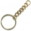 Keychain Split Ring/Curb Chain 25mm Gold